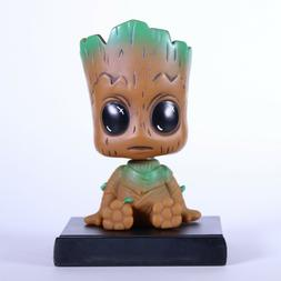 GROOT Bobble Head Figure and Cell Phone Holder for Office, H