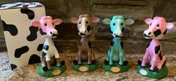 Kemps Diary Cow Bobblehead Set Of 4 Rare! New In Box! Never
