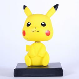 PIKACHU Bobble Head Figure and Cell Phone Holder for Office,