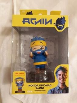 """Wicked Cool Toys Dancing Action Ninja 4"""" Bobblehead  Blue"""